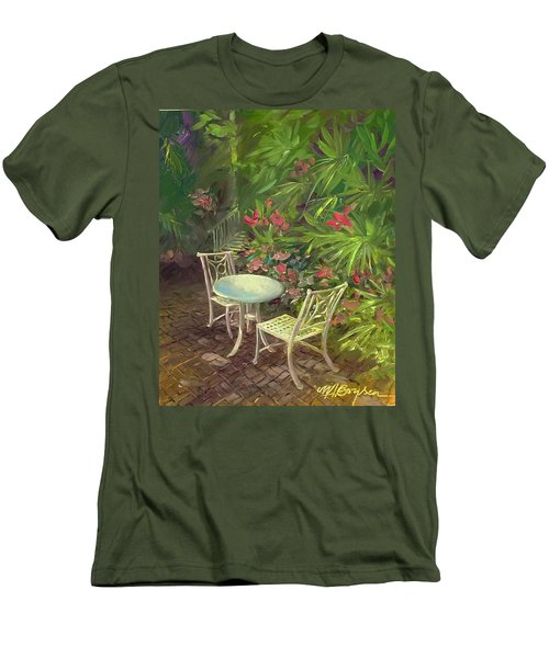 Garden Conversation Men's T-Shirt (Athletic Fit)