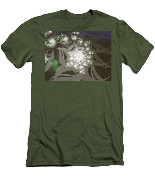 Men's T-Shirt (Slim Fit) featuring the digital art Garden Echos by Elizabeth McTaggart