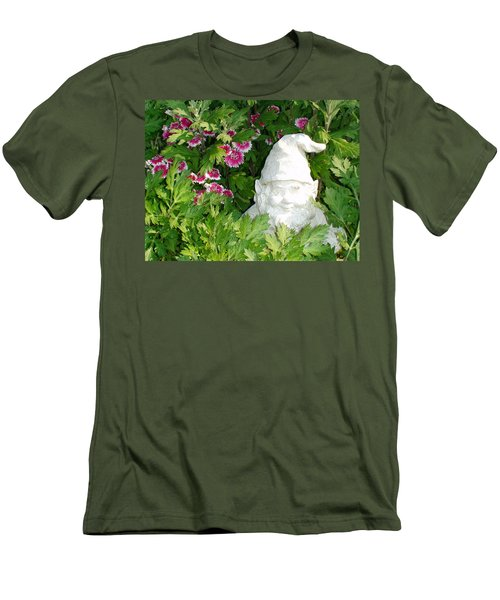 Men's T-Shirt (Slim Fit) featuring the photograph Garden Gnome by Charles Kraus