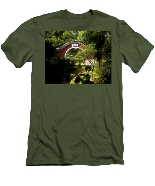 Garden Moon Gate 21e Men's T-Shirt (Athletic Fit)