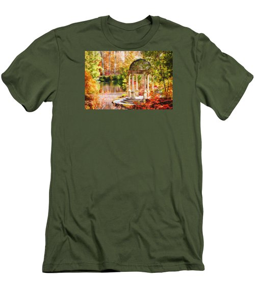 Men's T-Shirt (Slim Fit) featuring the photograph Garden Of Beauty by Trina  Ansel