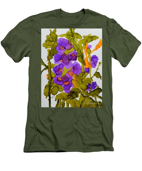 Garden Of Hollyhocks Men's T-Shirt (Athletic Fit)