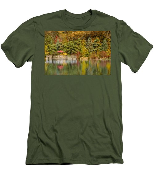 Men's T-Shirt (Slim Fit) featuring the photograph Garden Of Reflection by Sebastian Musial