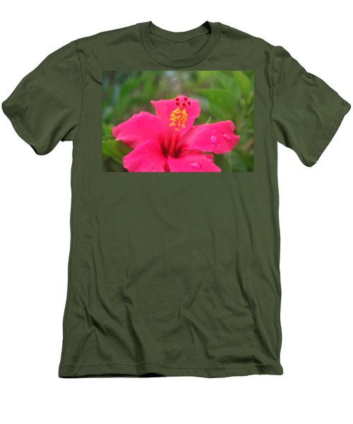 Men's T-Shirt (Slim Fit) featuring the photograph Garden Rains by Miguel Winterpacht