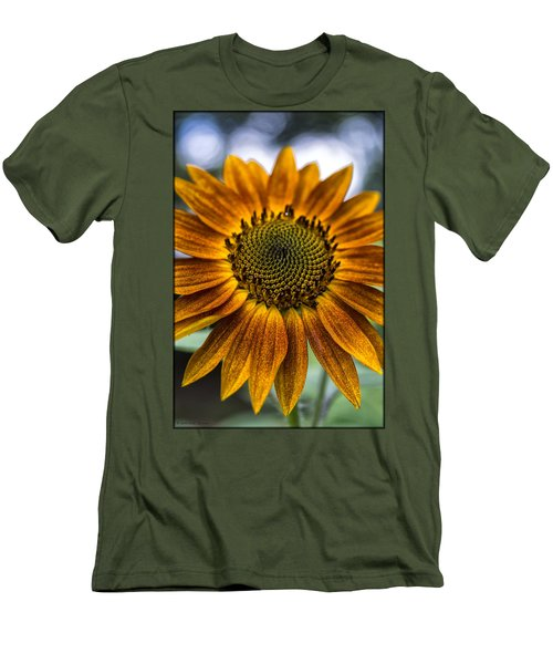 Garden Sunflower Men's T-Shirt (Athletic Fit)