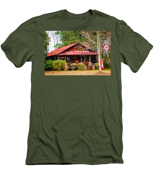 Men's T-Shirt (Slim Fit) featuring the photograph Gas Station 1 by Dawn Eshelman