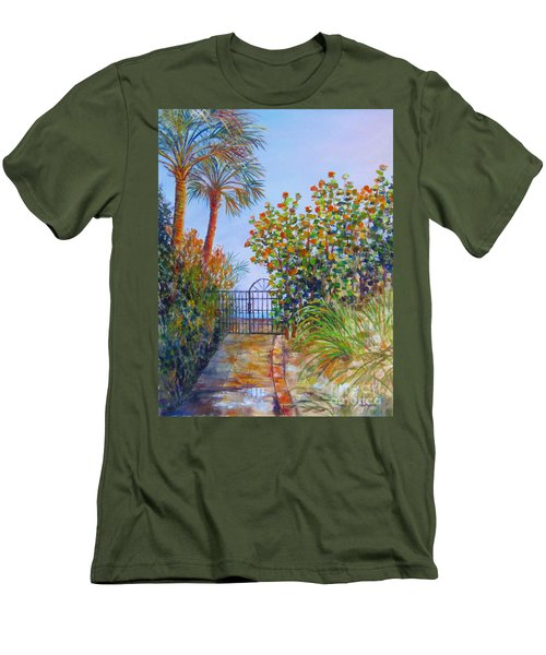 Gateway To Paradise Men's T-Shirt (Slim Fit) by Lou Ann Bagnall