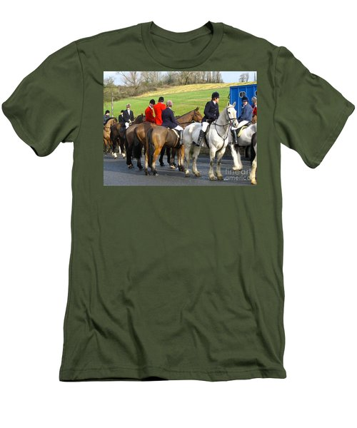 Men's T-Shirt (Slim Fit) featuring the photograph Gathering For The Hunt by Suzanne Oesterling