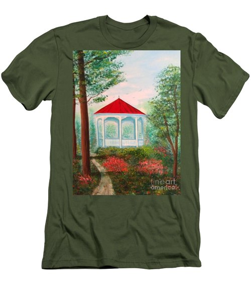 Gazebo Dream Men's T-Shirt (Slim Fit) by Becky Lupe
