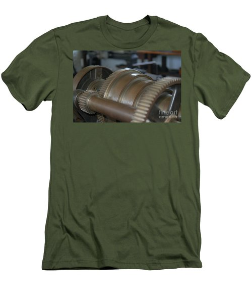 Men's T-Shirt (Slim Fit) featuring the photograph Gears Of Progress by Patrick Shupert