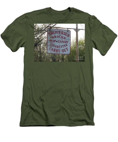 Men's T-Shirt (Slim Fit) featuring the photograph General Store by Michael Krek