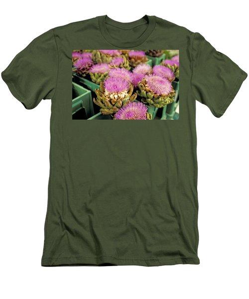 Germany Aachen Munsterplatz Artichoke Flowers Men's T-Shirt (Slim Fit) by Anonymous