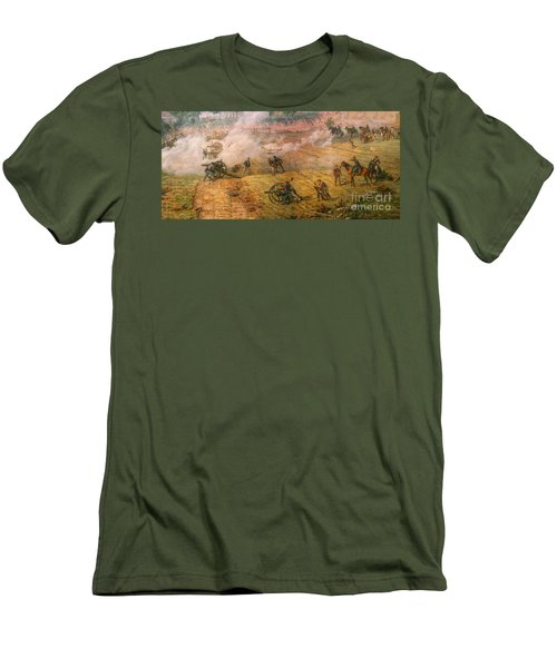 Gettysburg Cyclorama Detail One Men's T-Shirt (Slim Fit) by Randy Steele