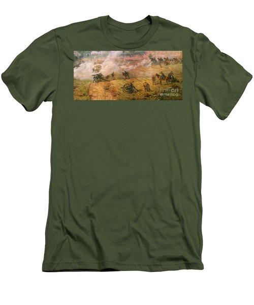 Gettysburg Cyclorama Detail One Men's T-Shirt (Athletic Fit)