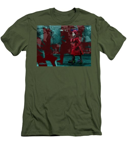 Girl In The Blood-stained Coat Men's T-Shirt (Slim Fit) by Seth Weaver