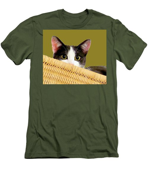 Men's T-Shirt (Slim Fit) featuring the photograph Girlie Cat  by Janette Boyd