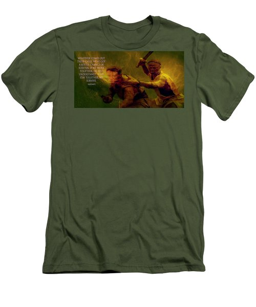 Men's T-Shirt (Slim Fit) featuring the photograph Gladiator  by Brian Reaves