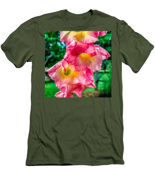 Men's T-Shirt (Slim Fit) featuring the photograph Gladiolus by Rob Sellers