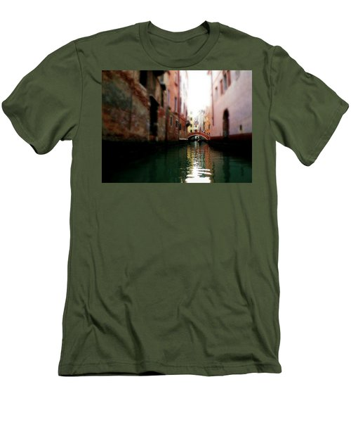Gliding Along The Canal  Men's T-Shirt (Slim Fit) by Micki Findlay