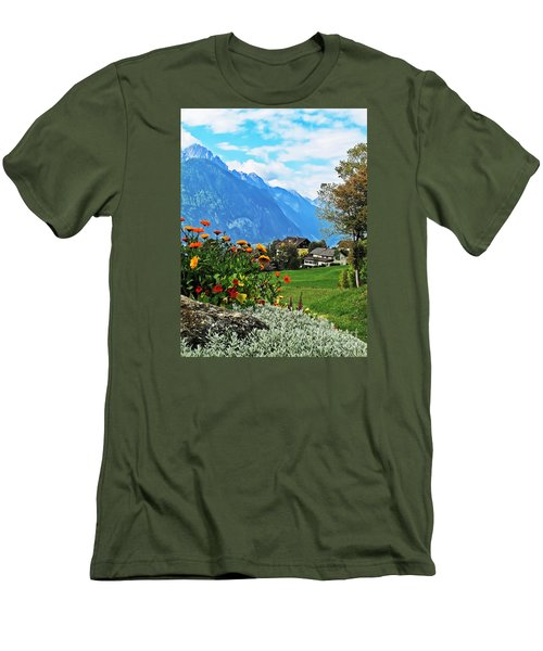 Glorious Alpine Meadow Men's T-Shirt (Athletic Fit)