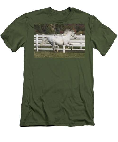 Men's T-Shirt (Slim Fit) featuring the photograph Glorious Gunther D2972 by Wes and Dotty Weber