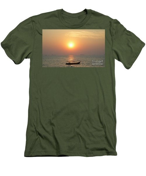 Goa Sunset Men's T-Shirt (Slim Fit) by Mini Arora