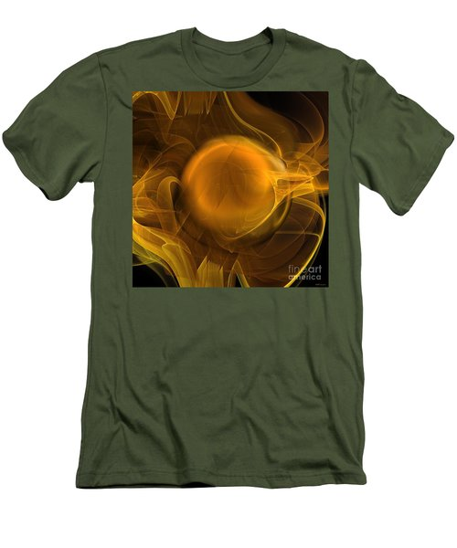 Gold Men's T-Shirt (Slim Fit) by Elizabeth McTaggart