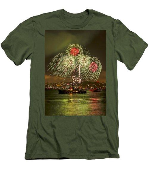 Golden Gate Bridge 75th Anniversary Fireworks 17 Men's T-Shirt (Athletic Fit)
