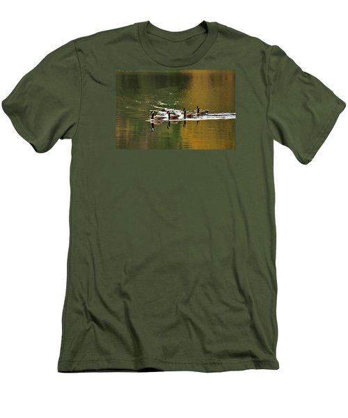 Golden Lake Men's T-Shirt (Slim Fit) by Menachem Ganon