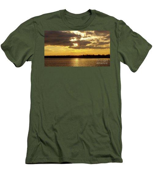 Men's T-Shirt (Slim Fit) featuring the photograph Golden Sunset by John Telfer