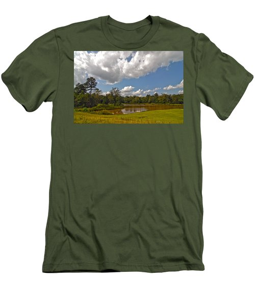 Men's T-Shirt (Slim Fit) featuring the photograph Golf Course Landscape by Alex Grichenko