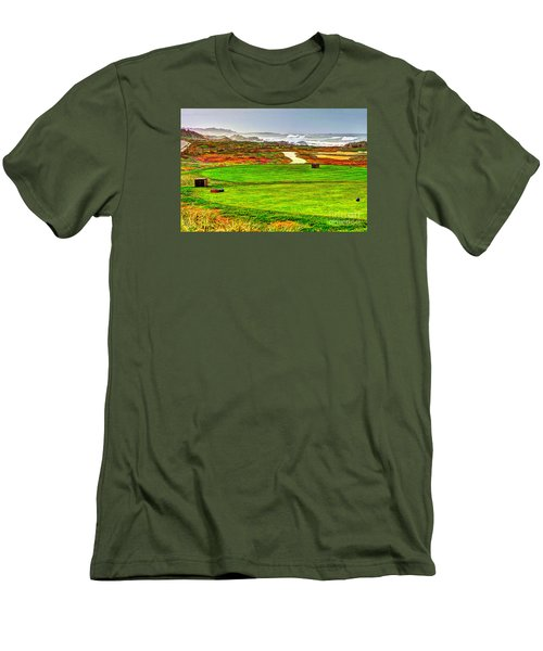 Men's T-Shirt (Slim Fit) featuring the photograph Golf Tee At Spyglass Hill by Jim Carrell