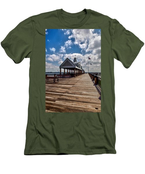 Men's T-Shirt (Slim Fit) featuring the photograph Gone Fishing by Sennie Pierson