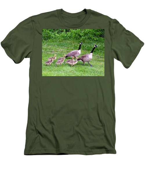 Goose Step Men's T-Shirt (Slim Fit) by Will Borden