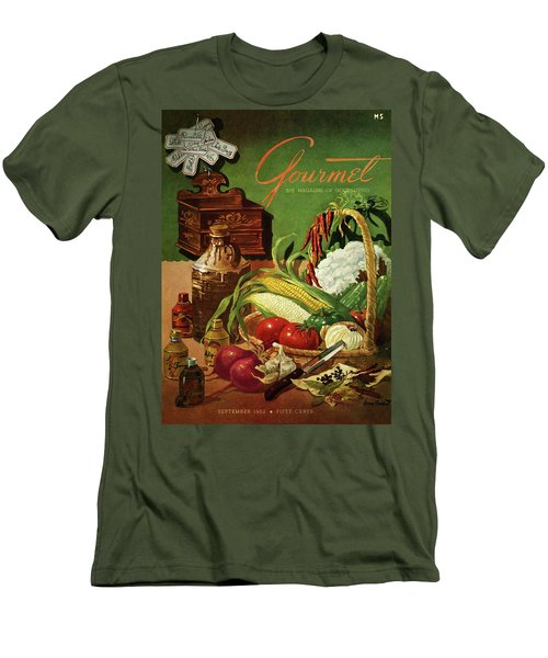 Gourmet Cover Featuring A Variety Of Vegetables Men's T-Shirt (Slim Fit) by Henry Stahlhut