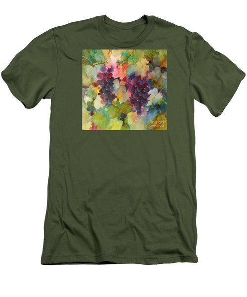 Men's T-Shirt (Slim Fit) featuring the painting Grapes In Light by Michelle Abrams