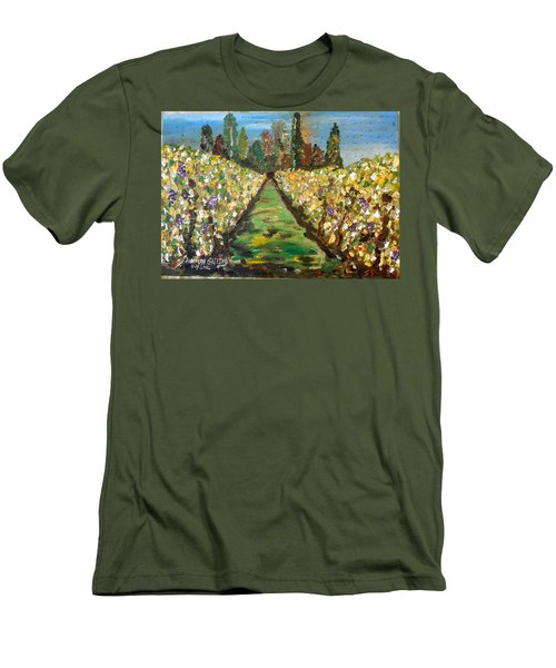 Grapes Of Tuscany Men's T-Shirt (Athletic Fit)