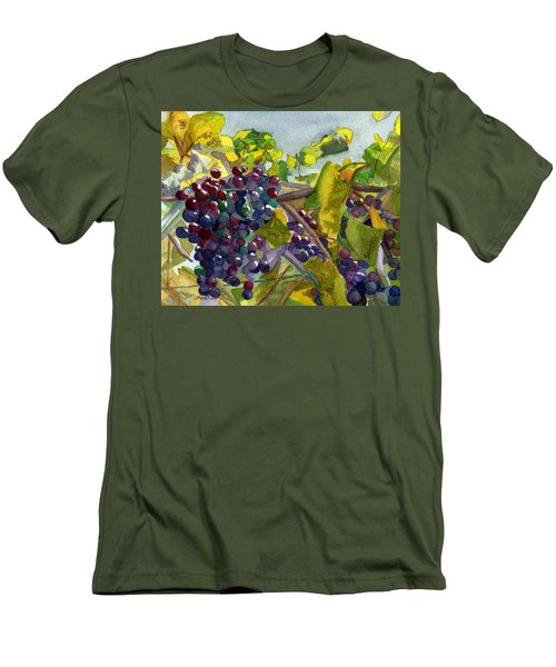 Men's T-Shirt (Slim Fit) featuring the painting Grapevines by Lynne Reichhart