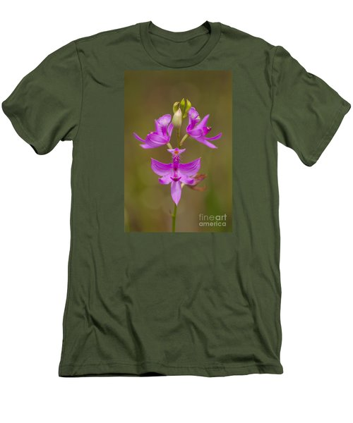 Grasspink #1 Men's T-Shirt (Slim Fit) by Paul Rebmann