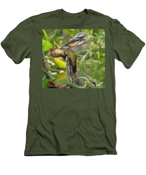 Great Blue Killer Men's T-Shirt (Slim Fit) by Adam Jewell