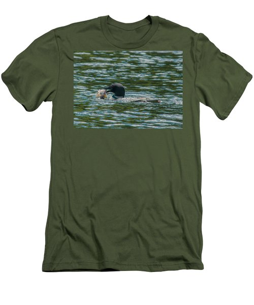 Men's T-Shirt (Slim Fit) featuring the photograph Great Catch by Brenda Jacobs