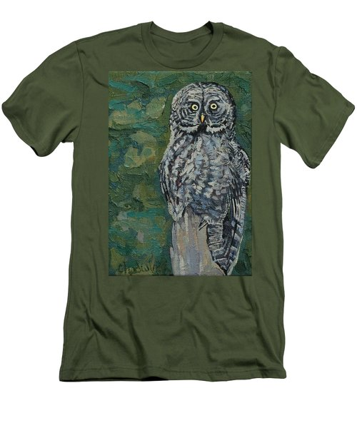 Great Gray Men's T-Shirt (Slim Fit) by Phil Chadwick