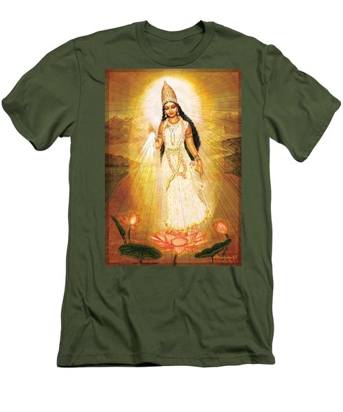 Great Mother Goddess Men's T-Shirt (Slim Fit) by Ananda Vdovic