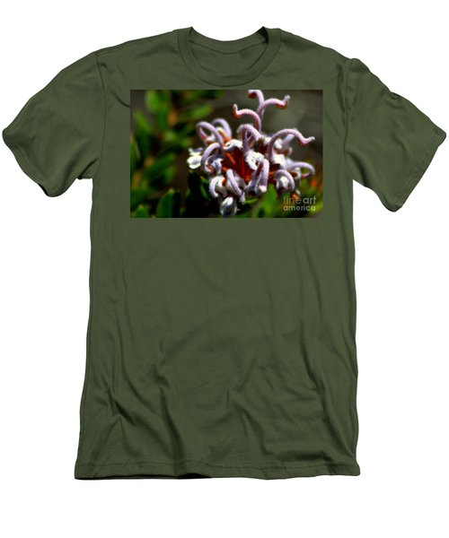 Men's T-Shirt (Slim Fit) featuring the photograph Great Spider Flower by Miroslava Jurcik