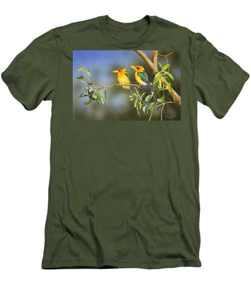 Green And Gold - Yellow-billed Kingfishers Men's T-Shirt (Athletic Fit)