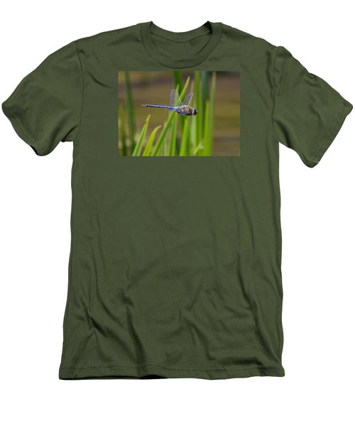 Men's T-Shirt (Slim Fit) featuring the photograph Green Darner Flight by David Lester
