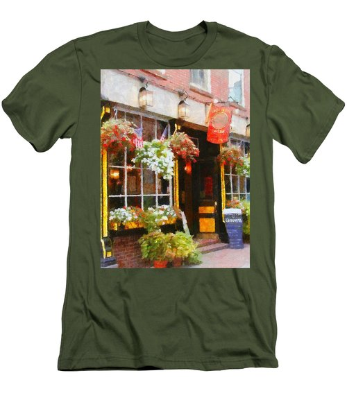 Green Dragon Tavern Men's T-Shirt (Slim Fit) by Jeff Kolker