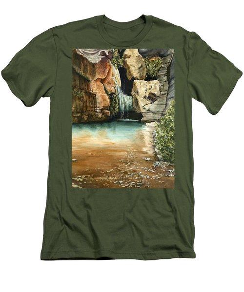 Green Falls II Men's T-Shirt (Athletic Fit)