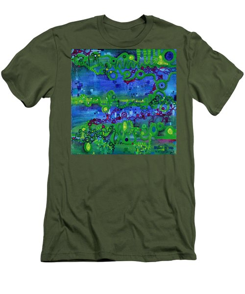 Green Functions Men's T-Shirt (Slim Fit) by Regina Valluzzi