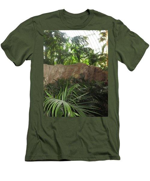 Men's T-Shirt (Slim Fit) featuring the photograph Green Interiors Vegas Casinos Resorts Hotels by Navin Joshi